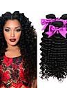 3 paket Malaysiskt hår Lockigt Äkta hår Human Hår vävar Hårförlängningar av äkta hår Naurlig färg Hårförlängning av äkta hår Bästa kvalitet Ny ankomst Till färgade kvinnor Människohår förlängningar