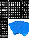 4 pcs Nail Stamping Tool Mall nagel konst manikyr Pedikyr Unik design / Tecknat Jul / Bröllop / Födelsedag