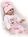 NPKCOLLECTION NPK DOLL Reborn-dockor Reborn Toddler Doll 22 tum Silikon - Nyfödd levande Söt Barnsäkert Ogiftig Hand Applied Eyelashes Unge Unisex / Flickor Leksaker Present / CE / Floppy Head