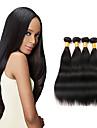 4 paket Peruanskt hår Rak Obehandlad hår Human Hår vävar 8-26 tum Hårförlängning av äkta hår Människohår förlängningar / 10A