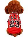 Hund Katt Husdjur Väst Hundkläder Svart Röd Kostym Beagle Bulldogg Shiba Inu Cotton Randig Prickig & Rutig Bokstav & Nummer Ledig / Sportig Brittisk XXS XS S M L