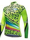 CYCOBYCO Dam Långärmad Cykeltröja Grön Leopard Plusstorlekar Cykel Collegetröja Tröja Överdelar Bergscykling Vägcykling Snabb tork Reflexremsa sporter Polyester 100% Polyester Kläder / Elastisk