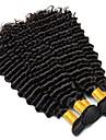 3 paket Peruanskt hår Lockigt Stora vågor Äkta hår Human Hår vävar 8-28 tum Svart Naurlig färg Hårförlängning av äkta hår Förlängning Heta Försäljning Till färgade kvinnor Människohår förlängningar