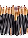 Professionell Makeupborstar Smink 20-Pack Miljövänlig Professionell Artificiella Fiber-borstar Plast för