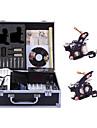 Professionell Tattoo Kit Tattoo Machine - 2 pcs Tatueringsmaskiner, professionell nivå / Handgjord / Slapp form LCD strömförsörjning 2 x stål tatueringsmaskin för linjer och skuggning
