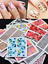 50 pcs Klistermärken nagel konst manikyr Pedikyr Klistermärken Nail Decals