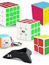 9 st Magic Cube IQ-kub QIYI QIYI-A Pyramorphix Alien Mini 2*2*2 3*3*3 4*4*4 5*5*5 Mjuk hastighetskub Magiska kuber Stresslindrande leksaker Pusselkub Lena klistermärken professionell nivå Spel Barn