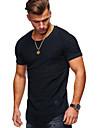 Męskie Podkoszulek Koszula Graficzny Solidne kolory Krótki rękaw Codzienny Najfatalniejszy Bawełna Podstawowy Okrągły dekolt Zieleń wojskowa Szary Biały