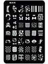 1 pcs Nail Stamping Tool Mall nagel konst manikyr Pedikyr Unik design / Tecknat Jul / Bröllop / Födelsedag