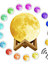 1 set LED 3D Print Moon Lamp Color-changing Rechargeable Dimmable Touch Sensor Remote Control 15cm 12cm Desktop Night Lamp USB Powered Upgrade Version