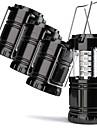 4 Pack Lyktor & Tältlampor Nödlampor Vattentät LED LED 30 utsläpps Manual Belysning läge Vattentät Bärbar Camping / Vandring / Grottkrypning Svart