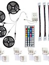 LED Strip Light Not-Waterproof 20M RGB SMD 5050 10mm 600LEDs Rope Lighting Color Changing Full Kit with 44-keys IR Remote Controller LED Lighting Strips for Home Kitchen Indoor Decoration