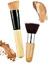 Professionell Makeupborstar Rougeborste 2 Miljövänlig Professionell Mjuk Bekväm Syntetiskt Hår Trä / Metall för Rougeborste Foundationborste Concealerborste Puderborste