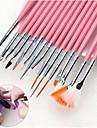 15st Nail Art Tool Nagelborstar Till Moderiktig design / Originella nagel konst manikyr Pedikyr Vanlig / söt stil Dagliga kläder