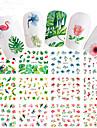 12 pcs Klistermärken nagel konst manikyr Pedikyr Färgglad Nail Decals Bröllop / Party / Vardag