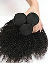 3 paket Indiskt hår Kinky Curly Äkta hår Huvudbonad Förlängare Hårförlängningar av äkta hår 8-28 tum Svart Naurlig färg Hårförlängning av äkta hår Mjuk Klassisk Bästa kvalitet Människohår / 8A