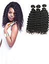 3 paket Indiskt hår Vågigt 100% Remy Hair Weave Bundles Hårförlängningar av äkta hår 8-30 tum Natur Svart Hårförlängning av äkta hår Glänsande Ny Design 100% Jungfru Människohår förlängningar / 10A