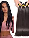 3 paket Peruanskt hår Rak Äkta hår Hårförlängningar av äkta hår 8-28 tum Naurlig färg Hårförlängning av äkta hår Bästa kvalitet Heta Försäljning Bröllop Människohår förlängningar / 8A