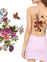 3 pcs Tatueringsklistermärken tillfälliga tatueringar Blomserier Body art skuldra