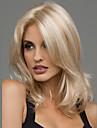 Syntetiska peruker Vågigt Vågigt Peruk Blond Mellan Svart Brun Blond Vinröd Syntetiskt hår 20 tum Dam Värmetåligt Mittbena Blond