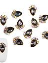 10 pcs Moderiktig design Nagelsmycken Till nagel konst manikyr Pedikyr Diamant- / strassprytt fodral / Nail Smycken