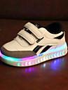 Pojkar / Flickor Komfort / Lysande skor PU Sneakers Småbarn (9m-4ys) / Lilla barn (4-7år) Karborreband / LED Vit / Svart Vår & Höst / Vår & sommar / Färgblock
