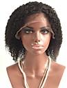 Obehandlad hår Spetsfront Peruk Frisyr i lager Rihanna stil Brasilianskt hår Lockigt Svart Peruk 130% Hårtäthet med babyhår Afro-amerikansk peruk Dam Korta Äkta peruker med hätta Aili Young Hair