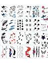 30 pcs Tatueringsklistermärken tillfälliga tatueringar Totemserier / Djurserier / Blomserier Body art arm