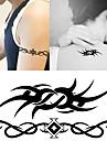 10 pcs Tatueringsklistermärken tillfälliga tatueringar Totemserier Body art arm / handled / skuldra