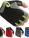 Träningshandskar för Motion & Fitness / Cykel / Gym Antisladd / Smal / Halvfinger Lycra / Nät Ett par Röd / Blå / Rosa