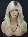 Syntetiska peruker Vågigt Vågigt Peruk Blond Lång Blond Syntetiskt hår Dam Värmetåligt Ombre-hår Mörka hårrötter Blond