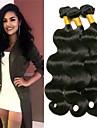 3 paket Indiskt hår Vågigt Äkta hår Human Hår vävar Hårförlängningar av äkta hår 8-28 tum Svart Naurlig färg Hårförlängning av äkta hår Klassisk Dam Förlängning Människohår förlängningar / 8A