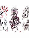 3 pcs tillfälliga tatueringar Blomserier / Romantisk serie Lena klistermärken / Säkerhet Body art arm / skuldra / Dekalstil tillfälliga tatueringar