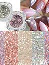 22pcs Konstgjorda nageltips Glitter Till Moderiktig design nagel konst manikyr Pedikyr Retro Bröllopsfest / Dagliga kläder