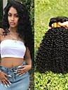 3 paket Malaysiskt hår Kinky Curly Äkta hår Obehandlat Mänsligt hår Human Hår vävar Hårvård bunt hår 8-28 tum Naurlig färg Hårförlängning av äkta hår Len Tjock Till färgade kvinnor Människohår / 8A