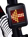 LED Cykellyktor Blinkerljus Baklykta till cykel säkerhetslampor Bergscykling Cykel Cykelsport Vattentät Smart induktion Ny Design Lättvikt Lithium USB 80 lm Röd Cykling