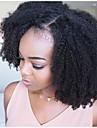 Remy-hår Spetsfront Peruk Sidodel stil Brasilianskt hår Afro Kinky Svart Peruk 250% Hårtäthet med babyhår Dam Bästa kvalitet Naturlig hårlinje obearbetade Dam Mellan Äkta peruker med hätta