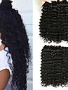 3 paket Brasilianskt hår Deep Curly Äkta hår Huvudbonad Förlängare bunt hår 8-28 tum Svart Naurlig färg Hårförlängning av äkta hår Vävd Bästa kvalitet Heta Försäljning Människohår förlängningar / 8A