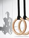 KYLINSPORT Gymnastikringar Boxningssäck Cam Buckle Straps sporter Trä Yoga Motion & Fitness Gym träning Justerbar olympisk Kraftig Crossfit Chins Axelstyrka För