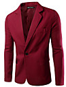 男性用 ブレザー 日常 ワーク ソリッド ポリエステル 男性用 スーツ ワイン / ホワイト / ブラック - シャツカラー / 長袖