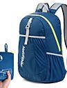 22 L Lättpackbar ryggsäck Ryggsäckar till dagsturer Lättvikt Andningsfunktion Regnsäker Kompakt Utomhus Camping Löpning Nylon Himmelsblå Grön Mörk Marin