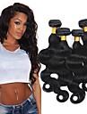4 paket Brasilianskt hår Vågigt Äkta hår Human Hår vävar bunt hår En Pack Lösning 8-28 tum Naturlig Naurlig färg Hårförlängning av äkta hår Säkerhet Klassisk Bästa kvalitet Människohår förlängningar