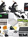 DRAGONHAWK Tattoo Machine Professionell Tattoo Kit - 2 pcs Tatueringsmaskiner, Professionell / Säkerhet / Lätt att installera Legering LCD strömförsörjning Fodral inkluderat 2 x legering tatuering