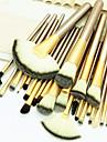 Professionell Makeupborstar Borstsatser 24pcs Miljövänlig Professionell Mjuk Fullständig Täckning Bekväm Artificiella Fiber-borstar Trä / Bambu för