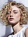 Syntetiska peruker Lockigt Sidodel Peruk Blond Mellan Svart / Rödlätt Syntetiskt hår 12 tum Dam Med Bangs Blond