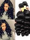 3 paket Malaysiskt hår Vågigt Obehandlat Mänsligt hår Human Hår vävar Förlängare 8-28 tum Naturlig Hårförlängning av äkta hår Bästa kvalitet Heta Försäljning Till färgade kvinnor Människohår / 8A