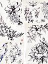 5 pcs tillfälliga tatueringar Blomserier / Romantisk serie Lena klistermärken / Säkerhet Body art Kropp / arm / skuldra / Dekalstil tillfälliga tatueringar