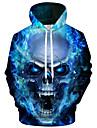 Men\'s Plus Size Hoodie 3D / Cartoon Print Hooded Active / Exaggerated Long Sleeve Loose Blue S M L XL XXL XXXL XXXXL XXXXXL XXXXXXL / Fall / Winter