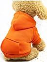 Hund Katt Husdjur Huvtröjor Tröja Outfits Hundkläder Purpur Orange Röd Kostym Husky Labrador alaskan malamute Cotton Enfärgad Sport och utomhus Vindtät Ledig / Sportig XS S M L XL XXL