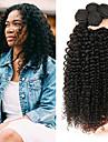 4 paket Kinky Curly Äkta hår Obehandlat Mänsligt hår Huvudbonad Human Hår vävar bunt hår 8-28 tum Naurlig färg Hårförlängning av äkta hår Glänsande Heta Försäljning Tjock Människohår förlängningar